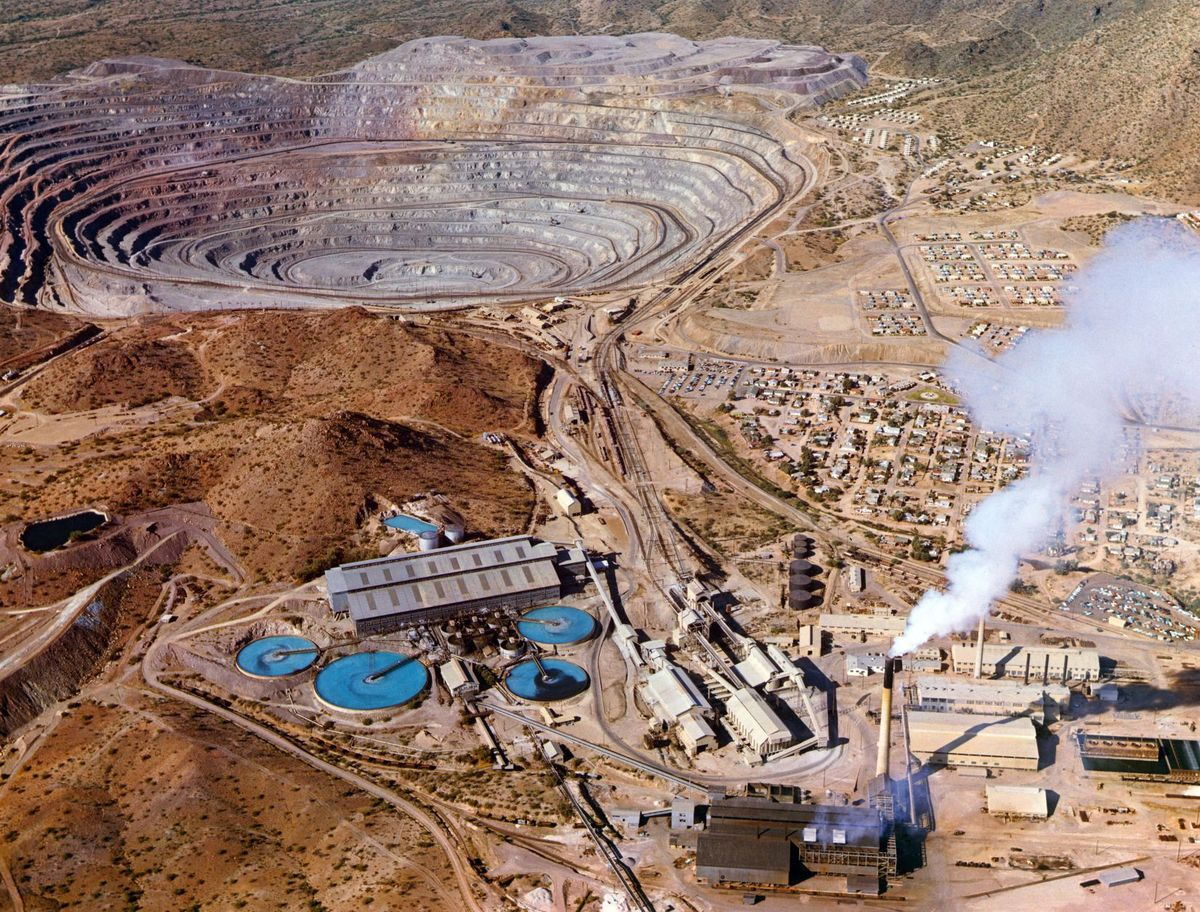 open copper mine